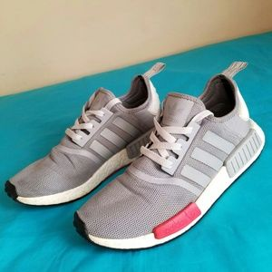 Men's Adidas NMD R1 Onix Grey Red Size10